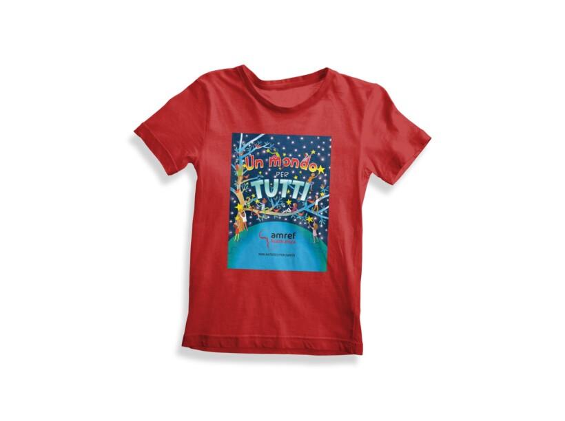 "T-shirt Amref bimbo ""Un mondo per Tutti"""