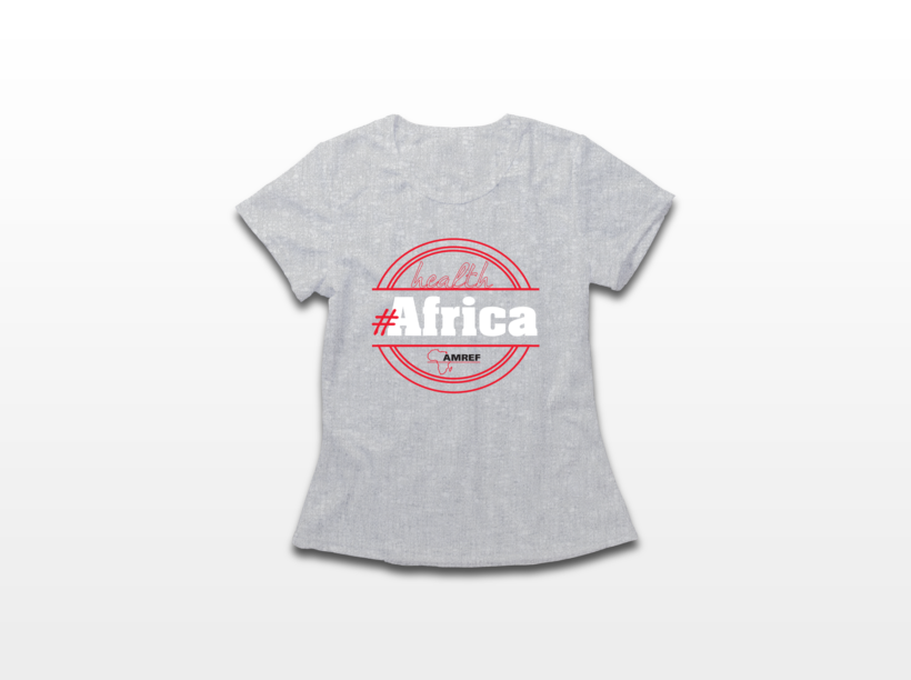 T-shirt Health Africa di Amref - Donna