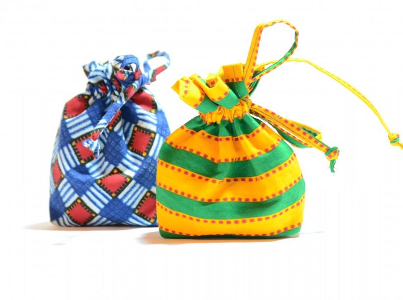 Sacchetto portaconfetti in stoffa africana