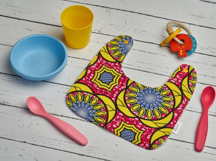 Bavaglino in stoffa africana