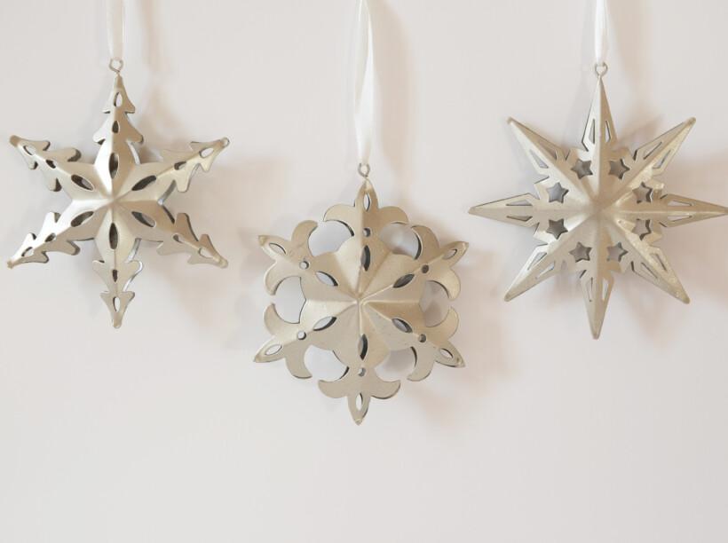 Tris decorazioni natalizie